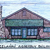 Architect's drawing - West Elevation