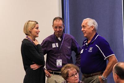Victoria Rasmussen, President Chuck Wight, Richard Stromberg