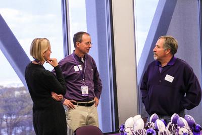 Victoria Rasmussen, President Chuck Wight, Jon Greiner