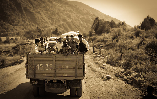 A truck ride
