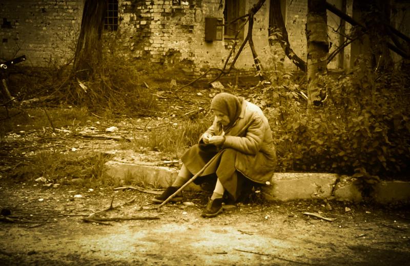 Homeless in Grozny