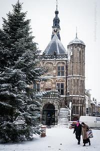 Museum De Waag in de winter
