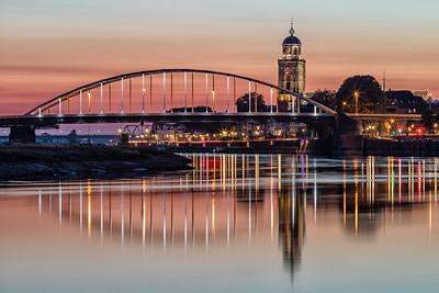 Deventer met de twee bruggen