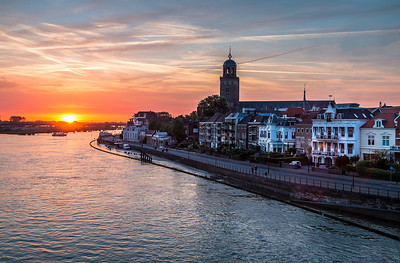 Zonsondergang in Deventer