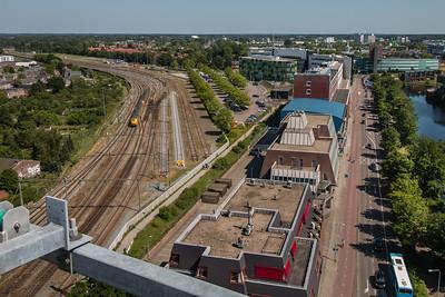 Juni 2014 - vanaf dak kantoor De Leeuwenbrug