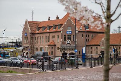 Station gezien vanaf Deventer Schouwburg