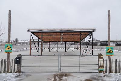 Locatie horecapaviljoen Meadow in het ijs