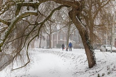 Doorkijkje in de sneeuw
