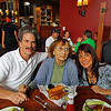 My sister, Sandi, and I with our mother inside the restaurant
