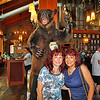 My sisters and a ferocious bear near the bar