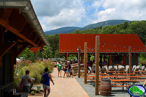 Another view of the outdoor bar