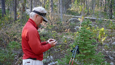 Always need a shot of Terry fiddling with the GPS.