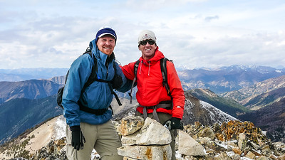 Todd and Terry on the Devils Bedstead West summit.