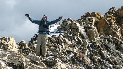 Yay! The summit traverse is accomplished.