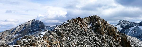 A look back at Devils Bedstead East, Devils Bedstead West, and  Goat Mountain.