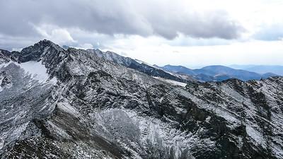 Salzburger Spitzl, Hyndman Peak, Duncan Ridge, and Handwerk Peak.