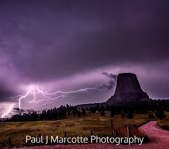 Midnight at Devils tower