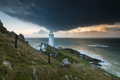 Winter sunrise at Start Point Lighthouse, South Devon