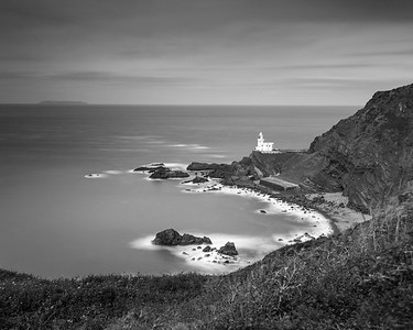 Hartland Point Light House - Black & White