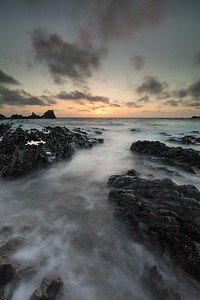 Hartland Quay just after sunset