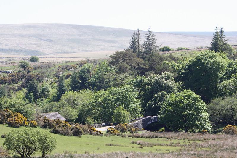 Many small streams and lush valleys dot the moor.