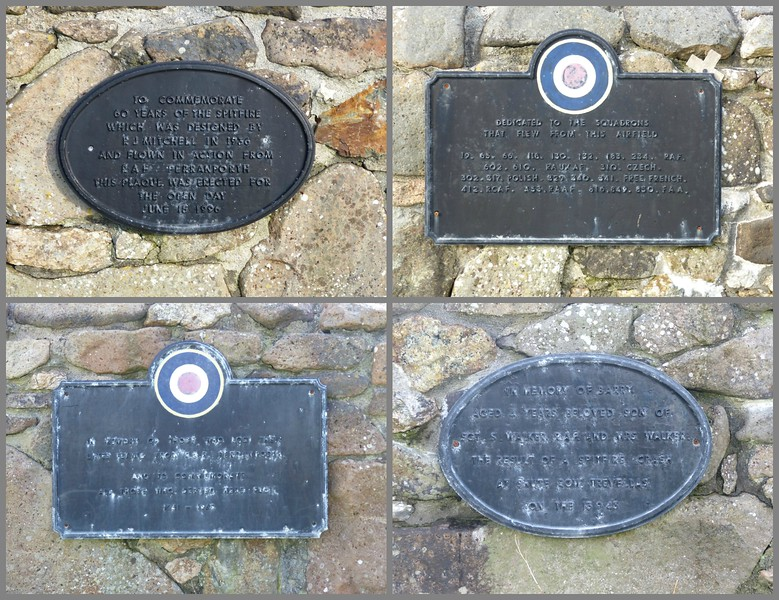 Perranporth Airfield War Memorial Plaques - 16 February 2017