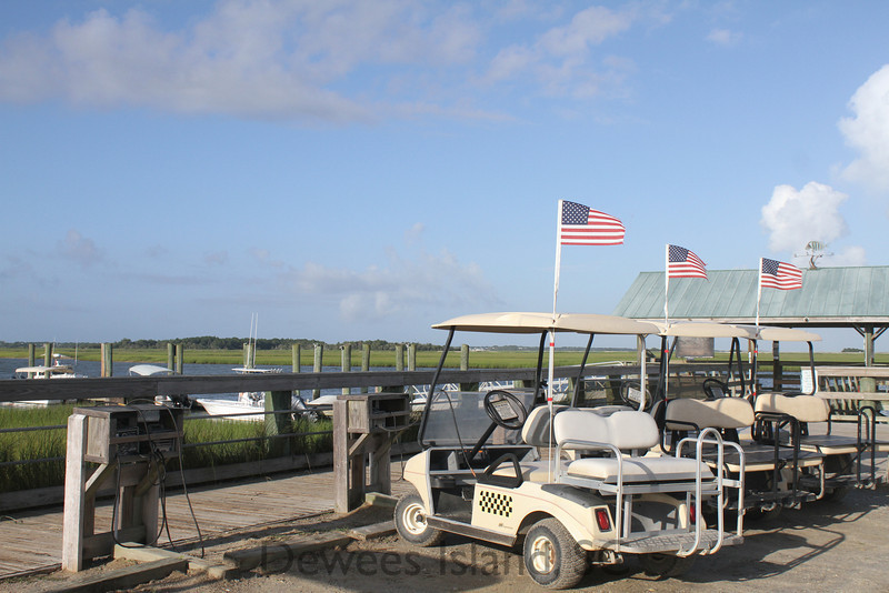 shuttle carts at the dock