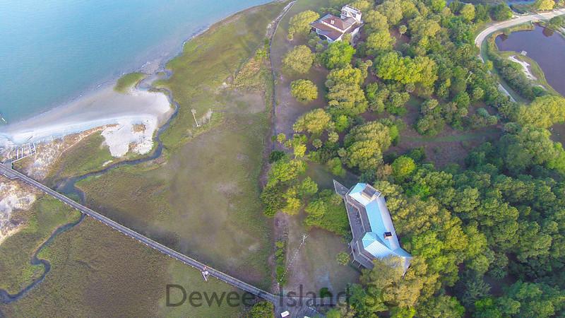 153 Dewees Inlet drive aerial view