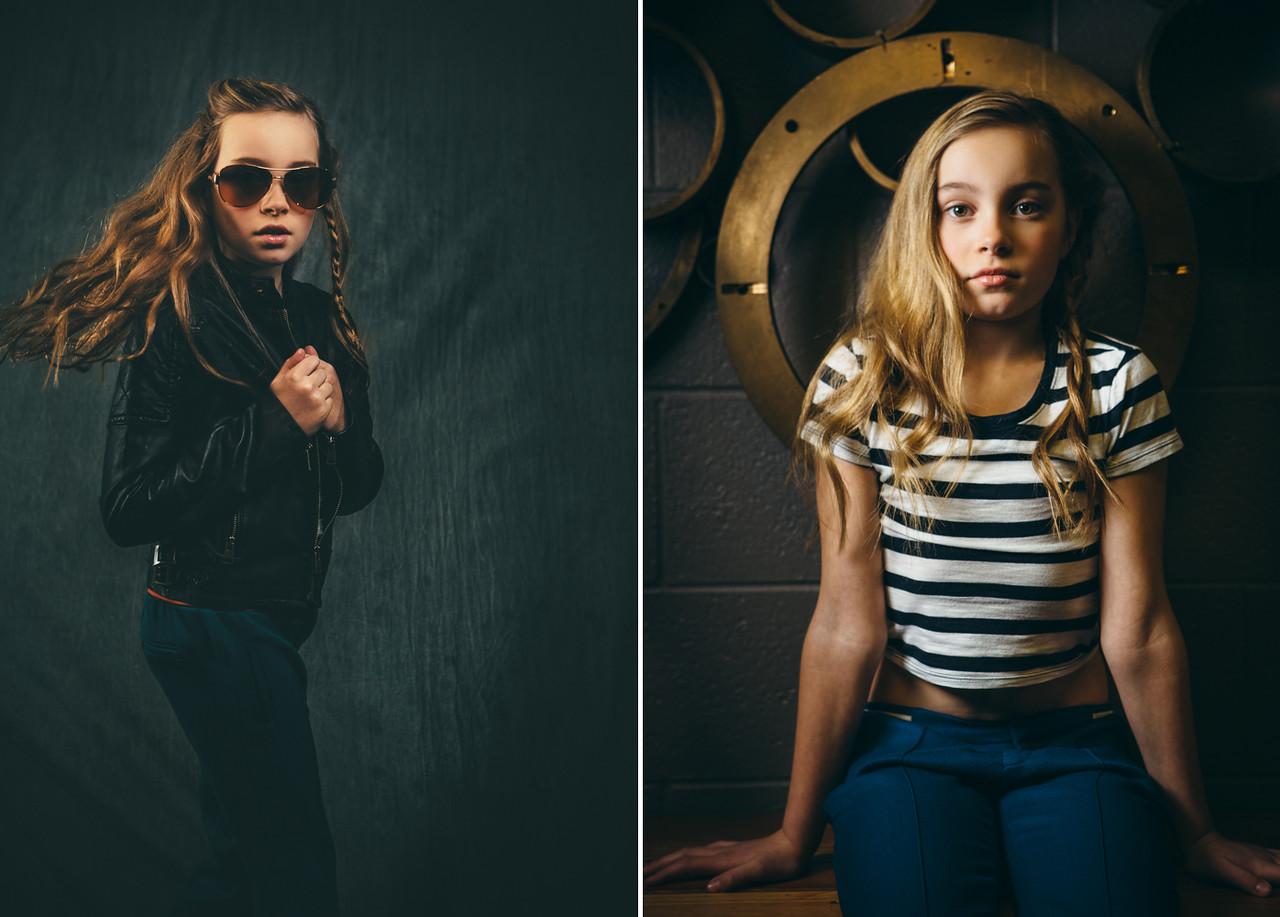 Dewitz Photography - Teslyn - Leather Jacket Metal Ring Set