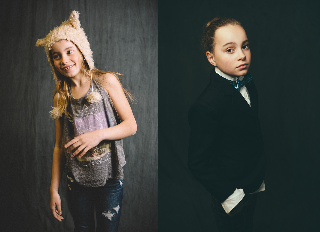 Dewitz Photography - Teslyn - Furry Hat and Suit Jacket