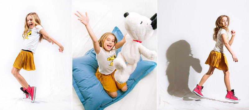 Dewitz Photography - Teslyn - Snoopy Shirt Action Series