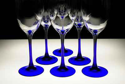 tinamarie52- Reflections on empty wine glasses (DSS Round #35: Blue)