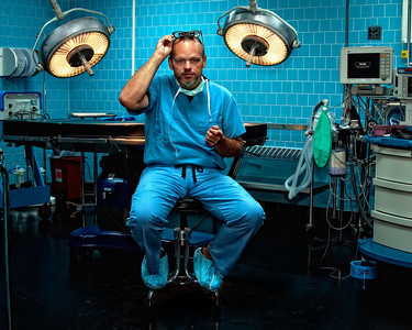 ghinson - a surgeon's self-portrait (DSS Round #30: Environmental Portrait)