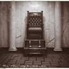 "ghinson - Auction item #114. Shoeshine Stand. Original Photograph. Slight water damage. 5""x7""."