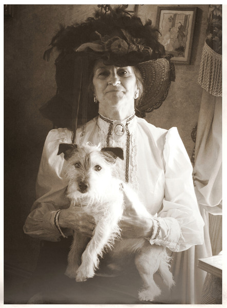 sweetharmony- Mrs. Shaw with her dog Eddie