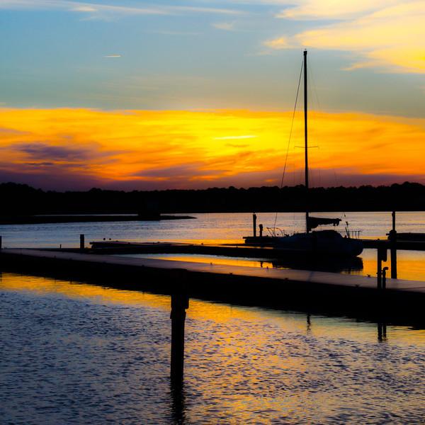 superduckz - sailboat sunset silhouette