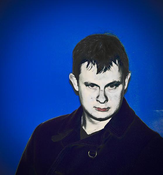 MarkR - Self Portrait, Blue Period