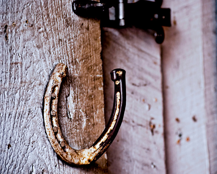 """PupWeb - """"Recycled Luck"""" One horses shoes is another mans door handle."""