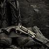 pyroPrints.com - The man in black fled across the desert, and the gunslinger followed.