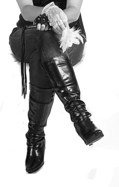 JR303 - Leather or lace,  decisions, decisions, decisions....