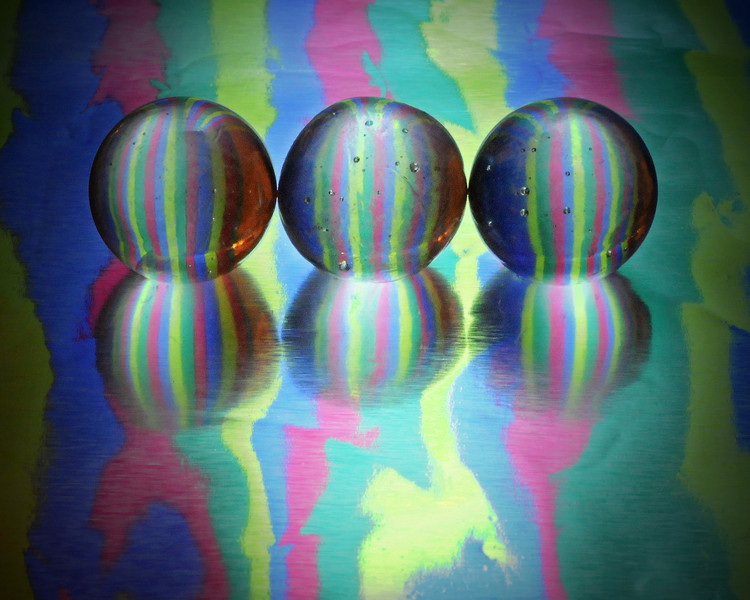 tinamarie52 - Reflection through Clear Glass Marbles