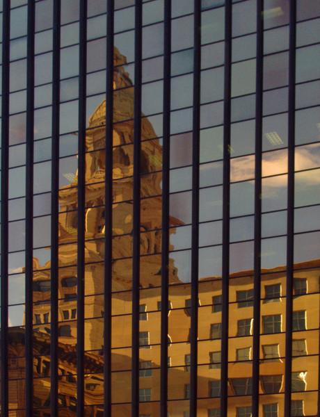 konomaniac - Travelers Tower reflected