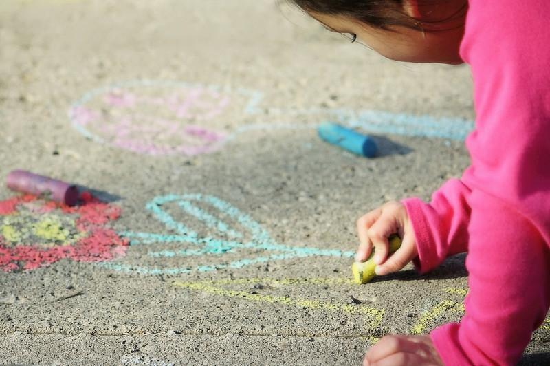 sweetharmony - Drawing on the Sidewalk