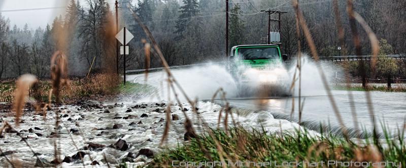 """MichaelLockhart - """"Water Rushing Over Roadway"""""""