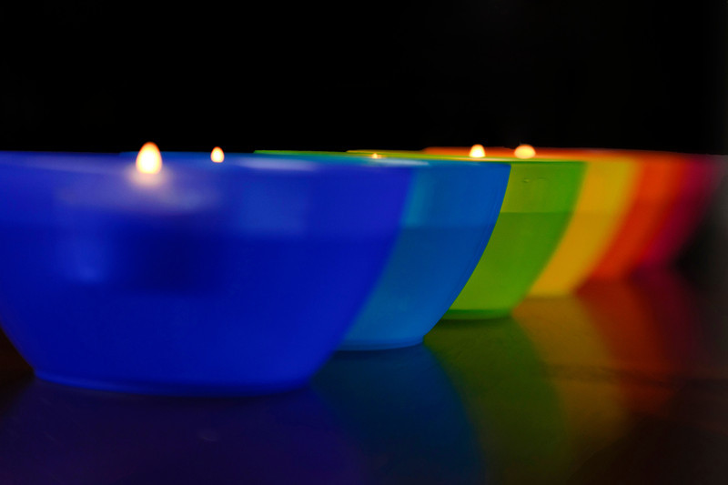 Memol - Rainbow Light-up Bowls