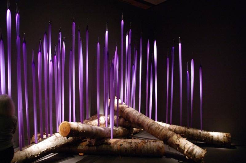 DonRicklin - Chihuly glass - Birch Logs with Neodymium Reeds.