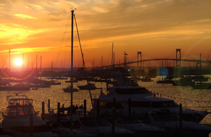 konomaniac - sunset over Newport Harbor