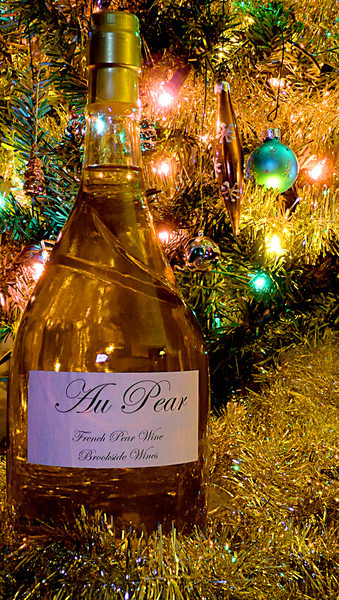 "Jenn -  ""New Wine for Auld Lang Syne""<br /> [This is literally a new Pear Wine my husband made and bottled for us for the New Year.]<br /> Happy New Year everyone!"