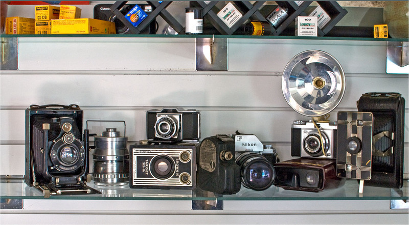 tonycooper -The camera repair shop's shelf