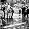 michswiss - Late shower at Flinders Street Station